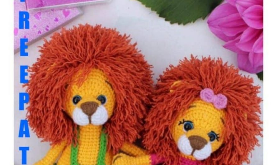 Amigurumi Lion Free Pattern - Knittting Crochet | 530x890